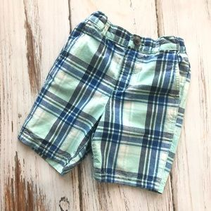 Childrens Place teal blue striped shorts 3T